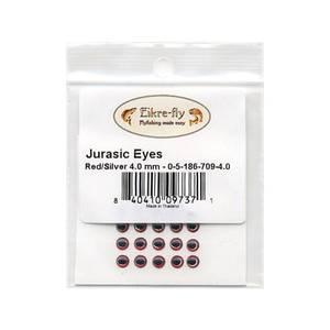 Bilde av Jurasic Eyes 4,0mm 709 Red/Silver