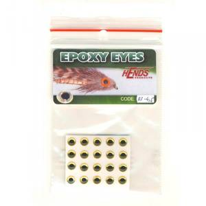 Bilde av Epoxy Eyes 4,5mm 03 holographic gold