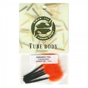 Bilde av Marabou Tail 13 - black / orange