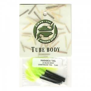 Bilde av Marabou Tail 15 - black / chartreuse
